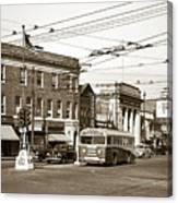 Kingston Corners Kingston Pa Early 1950s Canvas Print