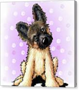 Kiniart Shepherd Puppy Canvas Print