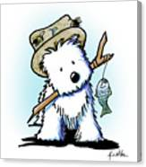 Kiniart Westie Fisherman Canvas Print
