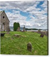 Kinross Cemetery On Loch Leven Canvas Print