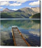 Kintla Lake Dock Canvas Print