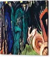 Kirchner: Street Scene Canvas Print