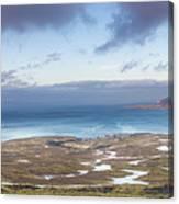 Kirkjufell And Grundarfjordur From On High Canvas Print