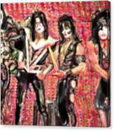 Kiss Watercolor Canvas Print