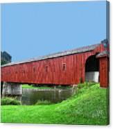 Kissing Bridge Of West Montrose Canvas Print