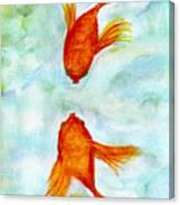 Kissy Fish Canvas Print