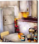 Kitchen - A 1960's Kitchen  Canvas Print
