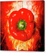 Kitchen Red Pepper Art Canvas Print