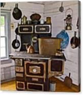 Kitchen Stove In Old Victoria-michigan  Canvas Print