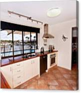 Kitchen With A River View Canvas Print