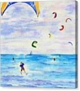 Kite Surfer Canvas Print