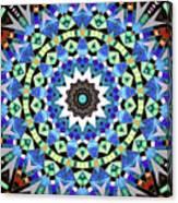 Kite Tiles Mandala Canvas Print