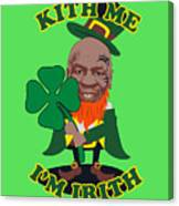 Kith Me I'm Irith Funny Novelty Mike Tyson Inspired Design For St Patrick's Day Canvas Print