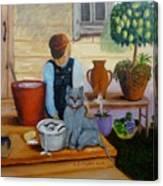 Kitten Bath Canvas Print