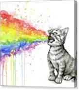 Kitten Tastes The Rainbow Canvas Print