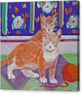 Kittens With Wild Wool Canvas Print