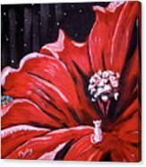 Kitty Flower Canvas Print