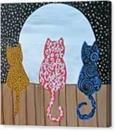 Kitty Moon Rise Canvas Print