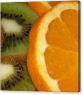 Kiwi And Orange Canvas Print