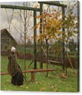 Klever, Yuli The Younger 1882-1942 Autumn Twilight Canvas Print