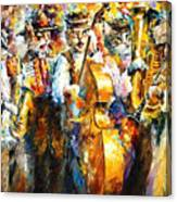 Klezmer Cats - Palette Knife Oil Painting On Canvas By Leonid Afremov Canvas Print
