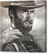 Klint Eastwood Canvas Print