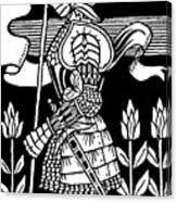 Knight Of Arthur, Preparing To Go Into Battle Canvas Print