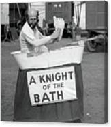 Knight Of The Bath Canvas Print