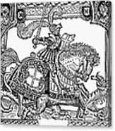 Knights: English, 1527 Canvas Print