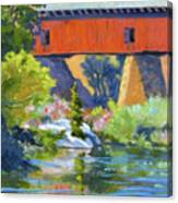 Knights Ferry Bridge Canvas Print