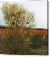 Knights Ferry Wooden Bridge - California Canvas Print