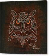 Knotty Owl Canvas Print