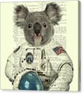 Koala In Space Illustration Canvas Print