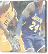 Kobe Bryant Lebron James 2 Canvas Print
