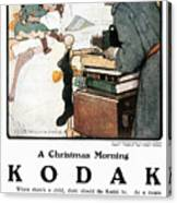 Kodak Advertisement, 1904 Canvas Print