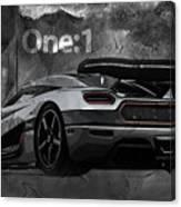 Koenigsegg One-1 Canvas Print