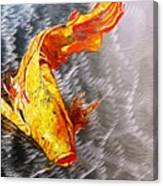 Koi Fish Aluminum Print, Unique Gift For Any Home Or Office. 'the Silver Koi'. Canvas Print