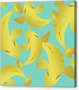 Koi Fish Sage - Lemon Canvas Print