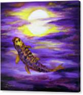 Koi In Purple Twilight Canvas Print