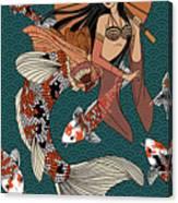 Koi Mermaid 2/4 Canvas Print