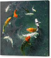 Koi Symphony 2 Stylized Canvas Print