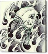 Koi Through The Water Canvas Print