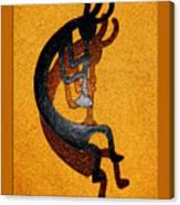 Kokopelli Golden Harvest Canvas Print