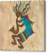 Kokopelli Sax Player Canvas Print