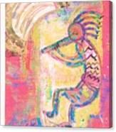 Kokopelli Sleepy Dance Canvas Print