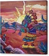 Kokopelli Sunset Canvas Print