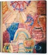 Kokopelli Zestful Spirit Dancer Canvas Print