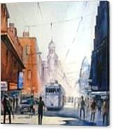 Kolkata City With Tram Canvas Print
