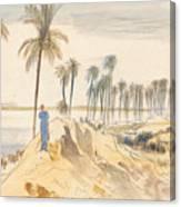 Kom El Amhr, 1 Pm, 4 January 1867 Canvas Print