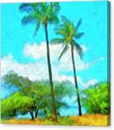 Kona Palms Canvas Print